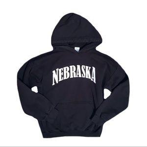 Gildan Men's Nebraska Black Hoodie